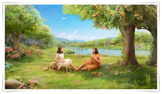 亞當夏娃在伊甸園的生活