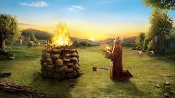 約伯清早為兒女獻燔祭