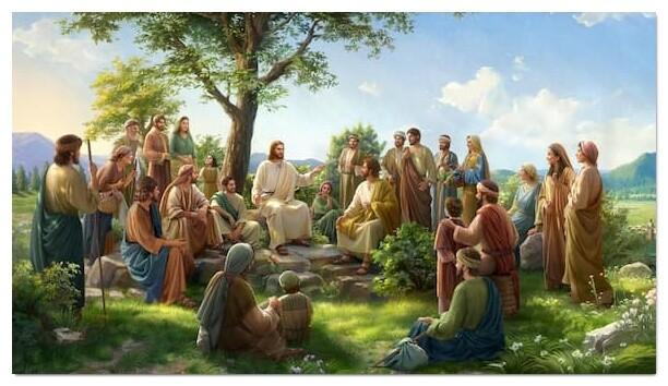 主耶穌在百姓中間講道