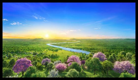 神在創造天地萬物時的美景