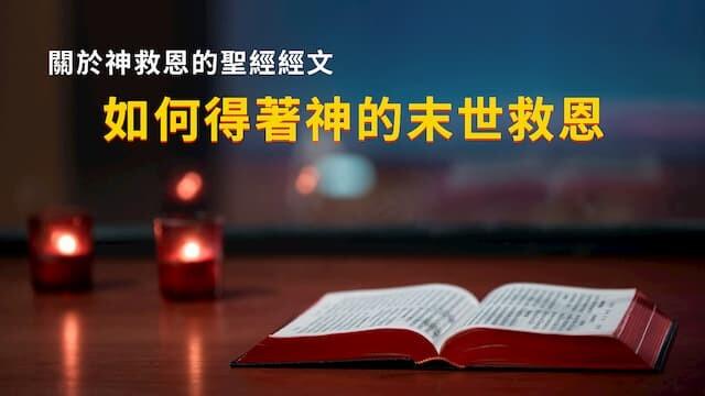 關於神救恩的聖經經文