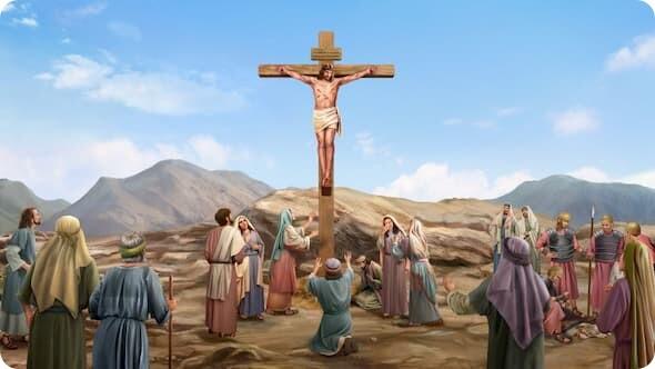 主耶穌道成肉身釘十字架